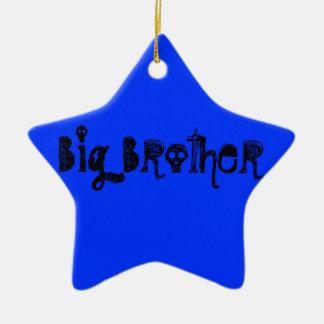 Hermano mayor adorno de cerámica en forma de estrella