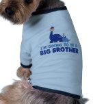 hermano mayor del dinosaurio a ser NUEVO azul Camisetas De Mascota
