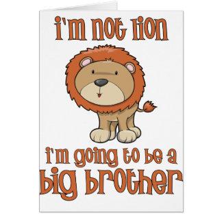 hermano mayor del león tarjeton