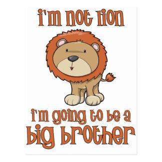 hermano mayor del león postal