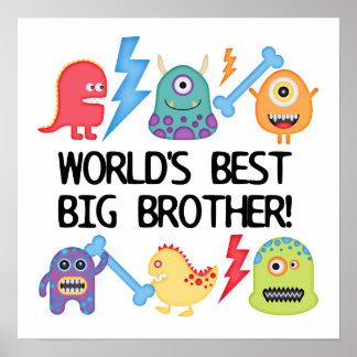 Hermano mayor del mundo de los monstruos mejor póster