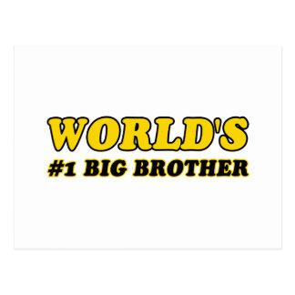 Hermano mayor del número 1 del mundo tarjetas postales