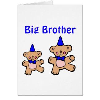 hermano mayor del oso de peluche tarjeta