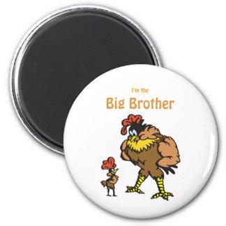 hermano mayor del pollo imán redondo 5 cm