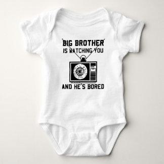 Hermano mayor es bebé aburrido poleras