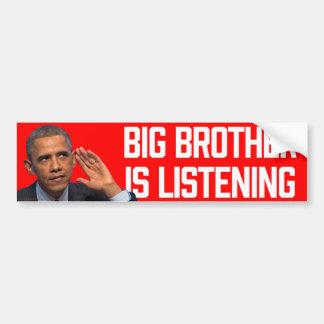 Hermano mayor es pegatinas de Obama que escuchan Pegatina Para Auto