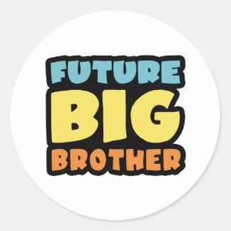 Hermano mayor futuro pegatina redonda