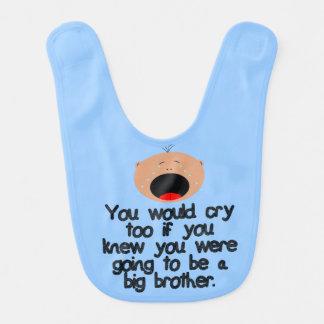Hermano mayor gritador a ser. Piel ligera Babero Para Bebé