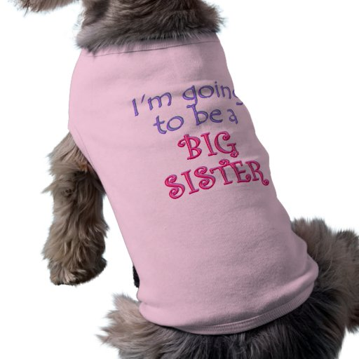 Hermano mayor/hermana camiseta de perro