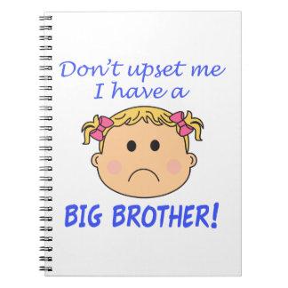 ¡Hermano mayor! Libro De Apuntes Con Espiral
