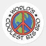 Hermano mayor más fresco del mundo etiqueta redonda