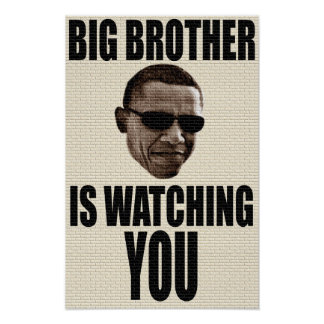 Hermano mayor Obama 1984 Póster