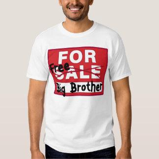 Hermano mayor para la camiseta divertida de la poleras