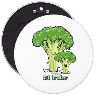 Hermano mayor - pequeño botón del hermano pin redondo de 6 pulgadas