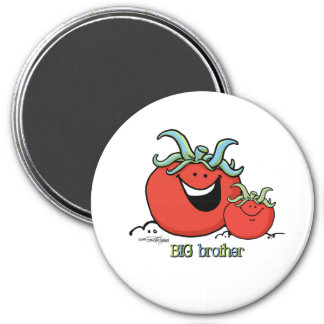 Hermano mayor - pequeño hermano - tomate imán redondo 7 cm