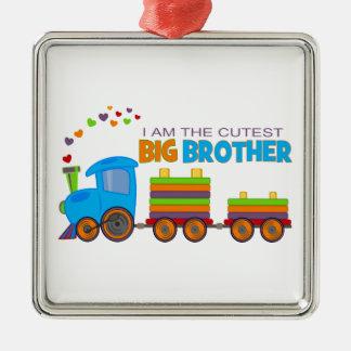 Hermano mayor - tren adorno cuadrado plateado