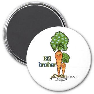 Hermano mayor - Veggie anaranjado de la zanahoria Imán Redondo 7 Cm
