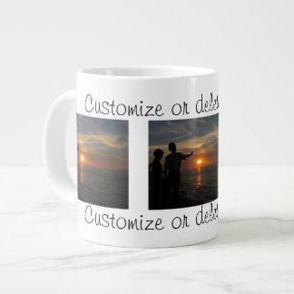 Hermanos al Atardecer; Customizable Large Coffee Mug