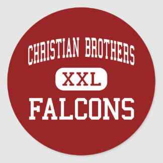 Hermanos cristianos - Falcons - altos - Sacramento Pegatina Redonda