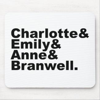 Hermanos de Charlotte Emily Anne Branwell el | Bro Alfombrillas De Ratón