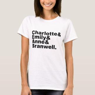 Hermanos de Charlotte Emily Anne Branwell el | Playera