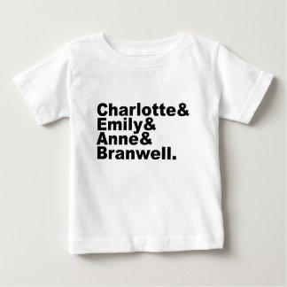 Hermanos de Charlotte Emily Anne Branwell el   Playera Para Bebé