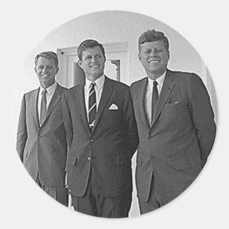 Hermanos de Kennedy, Juan, Ted, Roberto Pegatinas Redondas