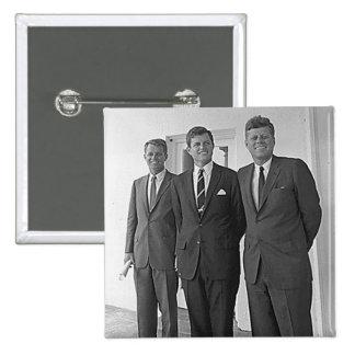 Hermanos de Kennedy, Juan, Ted, Roberto Pins