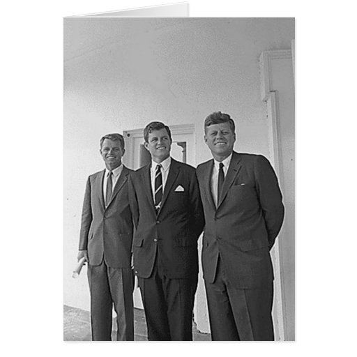 Hermanos de Kennedy, Juan, Ted, Roberto Tarjeta
