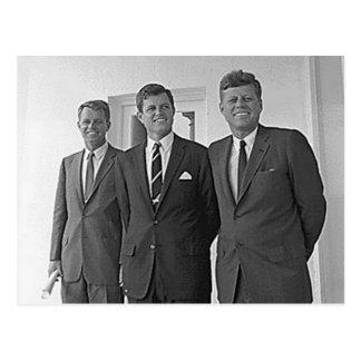 Hermanos de Kennedy Juan Ted Roberto Tarjeta Postal