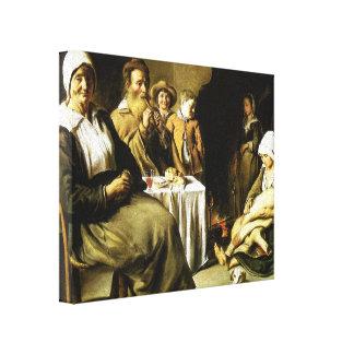 Hermanos de Le Nain la comida de la familia Impresion De Lienzo
