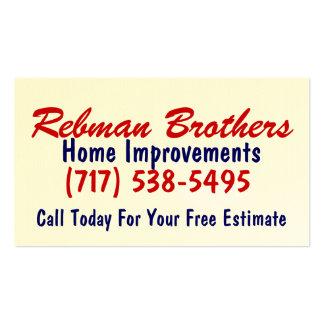 Hermanos de Rebman, mejoras para el hogar, (717) Tarjetas De Visita
