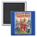 Hermanos de Ringling y Barnum y payaso del vintage Imán De Nevera