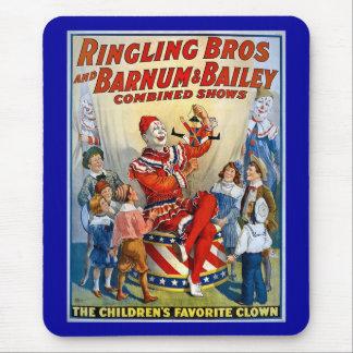 Hermanos de Ringling y Barnum y payaso del vintage Alfombrilla De Ratón