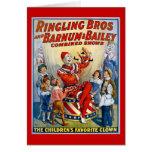 Hermanos de Ringling y Barnum y payaso del vintage Tarjetas