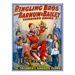 Hermanos de Ringling y Barnum y payasos del Tarjeta Postal