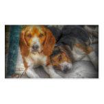 Hermanos del beagle plantilla de tarjeta de visita