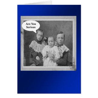 Hermanos del cumpleaños - retros tarjeta de felicitación