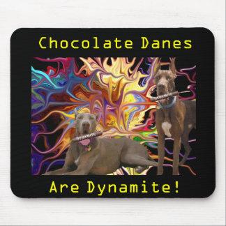 Hermanos del danés del chocolate de la dinamita tapete de ratón