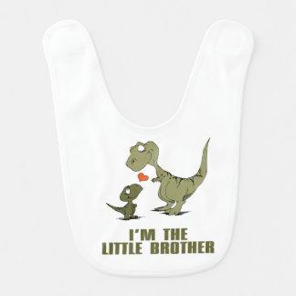 Hermanos del dinosaurio baberos de bebé