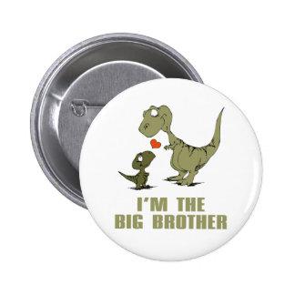 Hermanos del dinosaurio pin redondo de 2 pulgadas