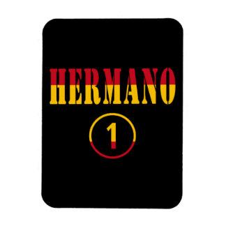 Hermanos españoles Uno de Hermano Numero Iman Rectangular