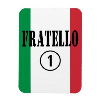Hermanos italianos: Uno de Fratello Numero Imán De Vinilo