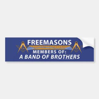 Hermanos masónicos etiqueta de parachoque
