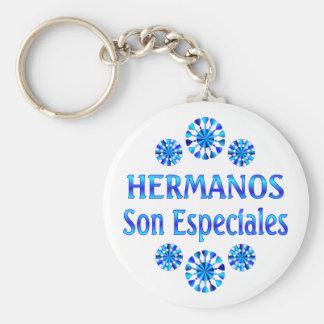 Hermanos Son Especiales Basic Round Button Keychain