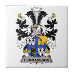 Hermansson Family Crest Ceramic Tile