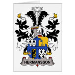 Hermansson Family Crest Greeting Cards