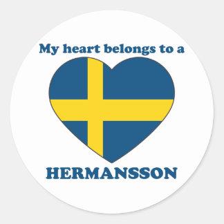 Hermansson Pegatina Redonda