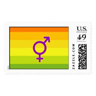 HERMAPHRODITE PRIDE FLAG POSTAGE STAMP