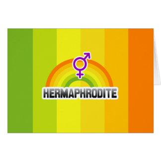 HERMAPHRODITE RAINBOW GREETING CARD